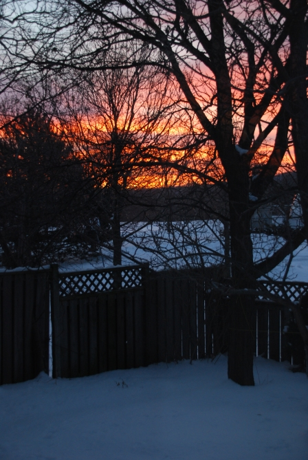 Sunrise on Christmas Morning, Dec 2013
