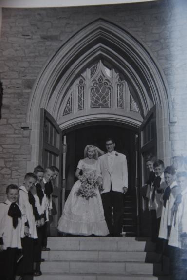 Mom & Dad, Wedding Day, 1954